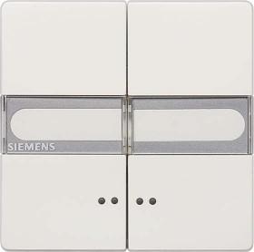Siemens DELTA style Wippe mit Fenster, mit Schild, titanweiß (5TG7157)