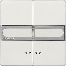 Siemens DELTA style Wippe mit Fenster, mit Schild, platinmetallic (5TG7157-1)