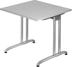 Hammerbacher Ergonomic B-Serie BS08/5, grau, Schreibtisch