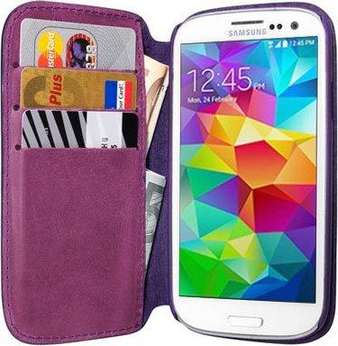 Pedea Book Cover Echtleder für Samsung Galaxy S5 violett (11160065) -- via Amazon Partnerprogramm