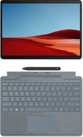 Microsoft Surface Pro X SQ1 Mattschwarz, 8GB RAM, 128GB SSD, LTE + Surface Pro X Signature Keyboard Eisblau, Surface Slim Pen Bundle