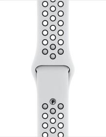 Apple Nike Sportarmband S/M und M/L für Apple Watch 40mm Pure Platinum/schwarz (MX8D2ZM/A)