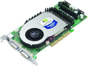 PNY Quadro FX 4000, GeForce 6800 Ultra, 256MB GDDR3, 2x DVI, TV-out, AGP (VCQFX4000-PB)