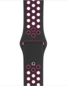 Apple Nike Sportarmband S/M und M/L für Apple Watch 40mm schwarz/Pink Blast (MWU72ZM/A)