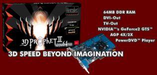Guillemot / Hercules 3D Prophet II GTS, GeForce2 GTS, 64MB DDR, AGP