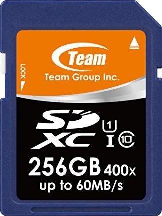 TeamGroup R60/W20 SDXC 256GB, UHS-I, Class 10 (TSDXC256GUHS01)