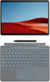 Microsoft Surface Pro X SQ2 Platin, 16GB RAM, 512GB SSD, LTE + Surface Pro X Signature Keyboard Eisblau, Surface Slim Pen Bundle