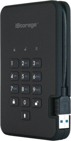 iStorage diskAshur2 256bit schwarz 1TB, USB-A 3.0 (IS-DA2-256-1000-B)