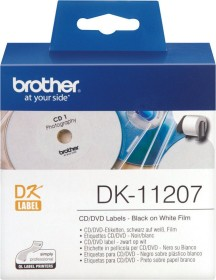 Brother DK-11207 CD/DVD-labels circular 58mm, white, 100 pieces (DK11207)