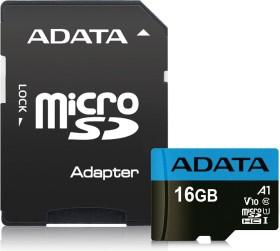 ADATA Premier R100/W25 microSDHC 16GB Kit, UHS-I U1, A1, Class 10 (AUSDH16GUICL10A1-RA1)