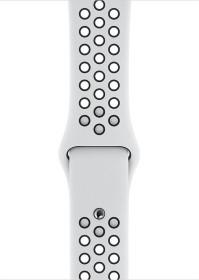 Apple Nike Sportarmband S/M und M/L für Apple Watch 44mm Pure Platinum/schwarz (MX8F2ZM/A)