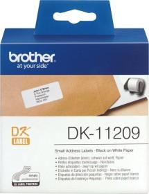 Brother DK-11209 Etiketten, 62x29mm, weiß, 1 Rolle (DK11209)
