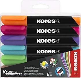 Kores K-Marker XP2 Permanentmarker sortiert, 6er-Set (M20903)