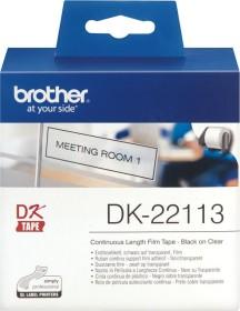 Brother DK-22113 Endlosetikette, 62mm, transparent, 1 Rolle (DK22113)
