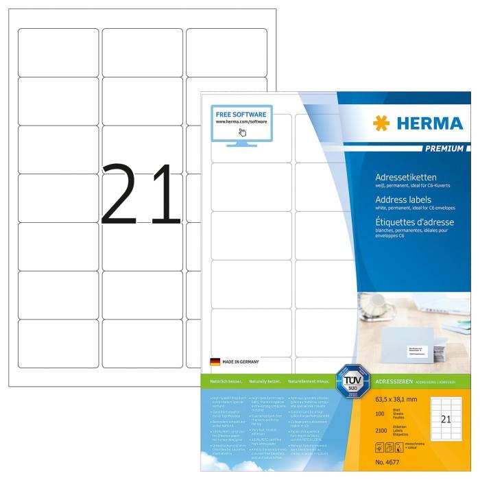 Herma 4677 Adressetiketten Premium -- via Amazon Partnerprogramm