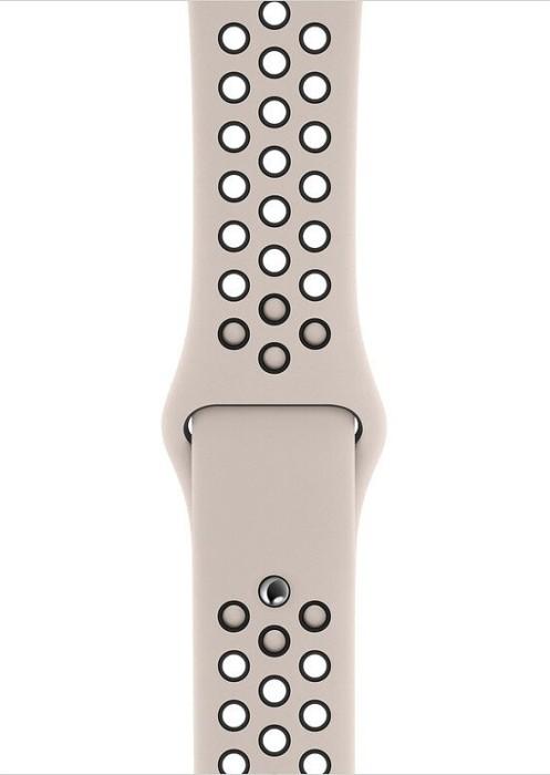 Apple Nike Sportarmband S/M und M/L für Apple Watch 44mm desert sand/schwarz (MWUD2ZM/A)
