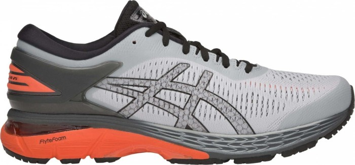 Asics Gel-Kayano 25 mid grey/red snapper (Herren) (1011A019-022)