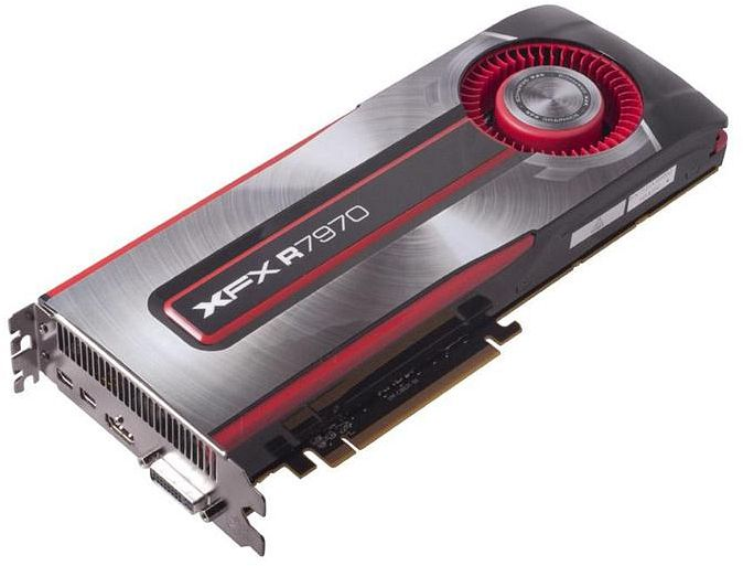XFX Radeon HD 7970 Black Edition Single Fan, 3GB GDDR5, DVI, HDMI, 2x Mini DisplayPort (FX-797A-TNBC)