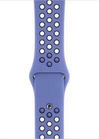 Apple Nike Sportarmband S/M und M/L für Apple Watch 44mm Royal Pulse/schwarz (MWUA2ZM/A)