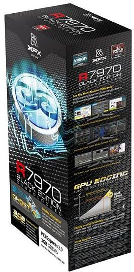XFX Radeon HD 7970 Black Edition Dual Fan, 3GB GDDR5, 2x DVI, HDMI, 2x mini DisplayPort (FX-797A-TDBC)