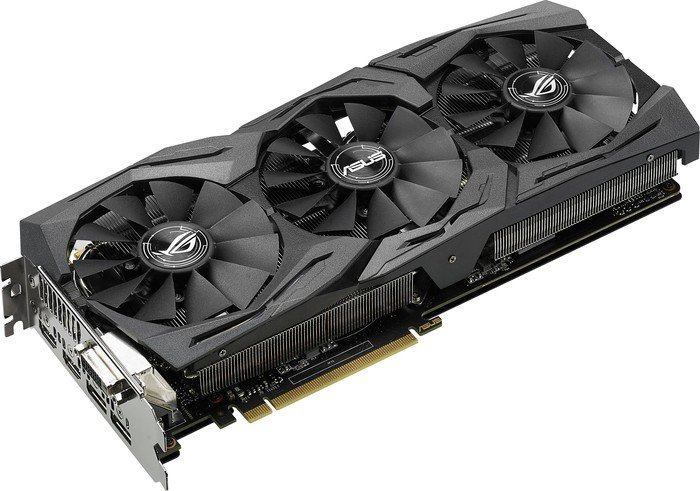 ASUS ROG Strix GeForce GTX 1080, STRIX-GTX1080-8G-GAMING, 8GB GDDR5X, DVI, 2x HDMI, 2x DisplayPort (90YV09M1-M0NM00)