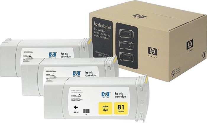 HP tusz Nr 81 żółty multipack (C5069A) -- via Amazon Partnerprogramm