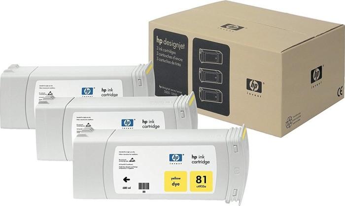 HP 81 Tinte gelb, 3er-Pack (C5069A) -- via Amazon Partnerprogramm