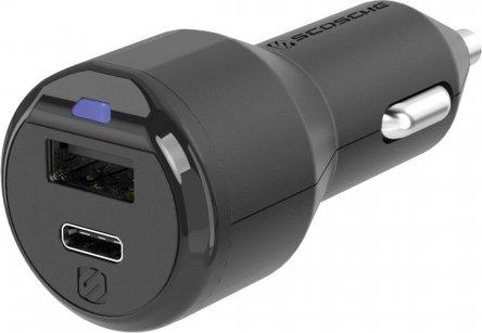Scosche powerVOLT 3.0 30W USB-C & USB-A Car Charger (CPDA2C8-SP) -- via Amazon Partnerprogramm