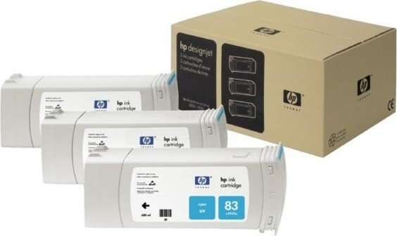 HP 83 Tinte UV cyan, 3er-Pack (C5073A) -- via Amazon Partnerprogramm