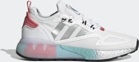 adidas ZX 2K Boost cloud white/silver metallic/hazy rose (ladies) (FX7054)