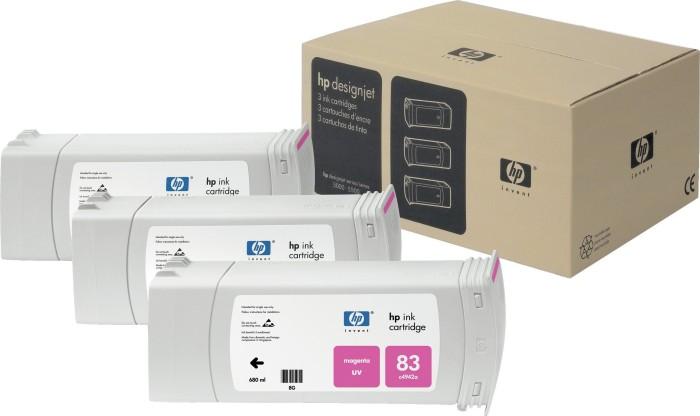 HP 83 Tinte UV magenta, 3er-Pack (C5074A)