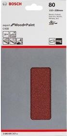 Bosch Schwingschleifblatt C430 Expert for Wood and Paint 115x230mm K80, 10er-Pack (2608605317)