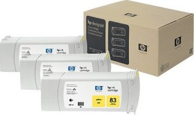 HP Tinte 83 UV gelb, 3er-Pack (C5075A)