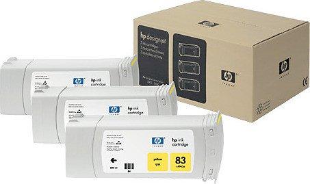 HP 83 Tinte UV gelb, 3er-Pack (C5075A)