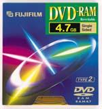 Fujifilm DVD-RAM 4.7GB 3x, 5-pack