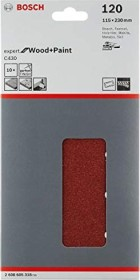 Bosch orbital sander sheet C430 Expert for Wood and Paint 115x230mm K120, 10-pack (2608605318)