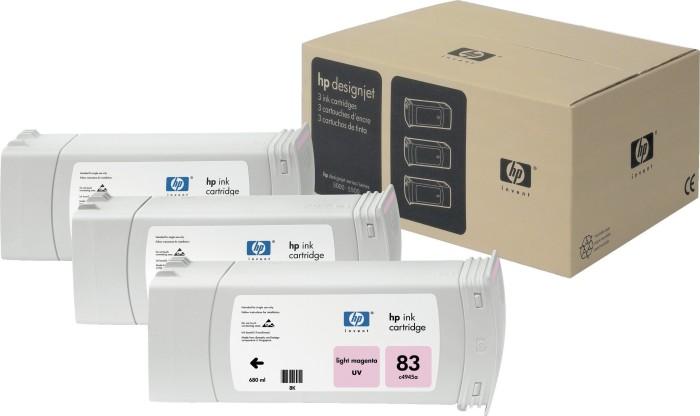 HP 83 Tinte UV magenta hell, 3er-Pack (C5077A)