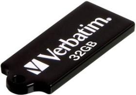 Verbatim Store 'n' Go Micro schwarz 32GB, USB-A 2.0 (44051)