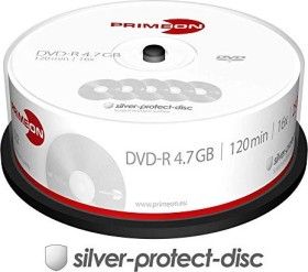 Primeon silver-protect-disc DVD-R 4.7GB 16x, 25er Spindel (2761203)