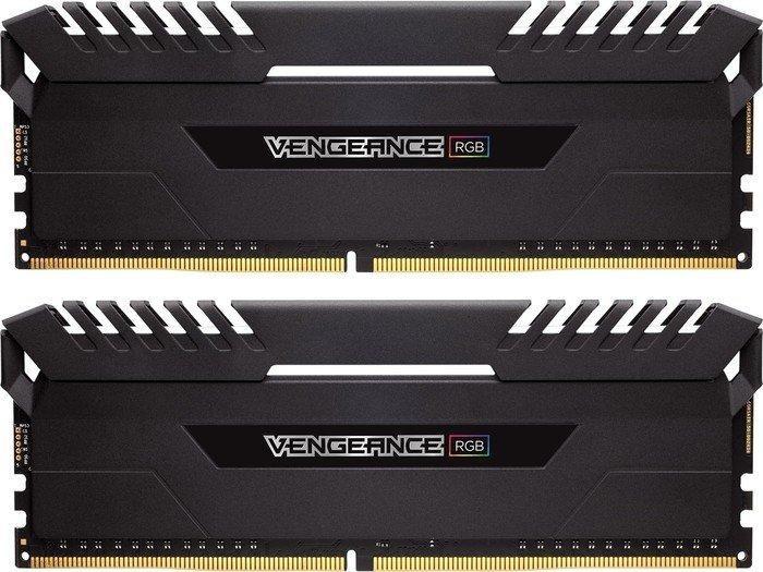 Corsair Vengeance RGB schwarz DIMM Kit 32GB, DDR4-3000, CL16-20-20-38 (CMR32GX4M2D3000C16)