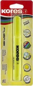Kores High Liner Plus Textmarker gelb, Blister (TM36011)