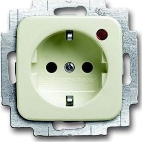 Busch-Jaeger Future Linear Steckdosen-Einsatz mit Aufdruck EDV, schwarz matt (20 EUCKS/DV-885)