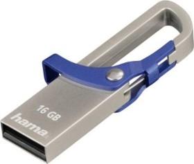 Hama FlashPen Hook-Style blau 16GB, USB-A 2.0 (123920)