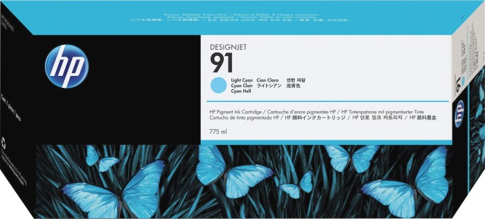HP ink Nr 91 cyan light (C9470A)