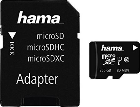 Hama R80 microSDXC 256GB Kit, UHS-I U1, Class 10 (124173) -- via Amazon Partnerprogramm
