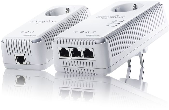 devolo dLAN 500 AV wireless+ starter kit, 500Mbps, 3x LAN/WLAN 300Mbps (1825)