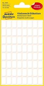6 Blatt Vielzwecketiketten Zweckform 3041 weiß 8 x 13mm 384 Stück Neu OVP