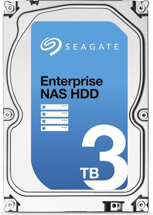 Seagate Enterprise NAS HDD 3TB, +Rescue, SATA 6Gb/s (ST3000VN0011)