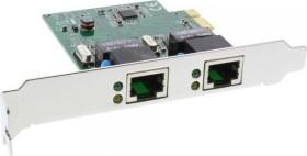 InLine 51126I, 2x RJ-45, PCIe 1.1 x1