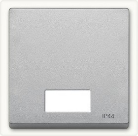Merten System M Wippe Symbolfenster IP44 Thermoplast edelmatt, aluminium (433760)